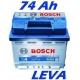 Autobaterie BOSCH S4 74 Ah (0 092 S40 090)