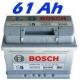 Autobaterie BOSCH S5 61 Ah (0 092 S50 040)
