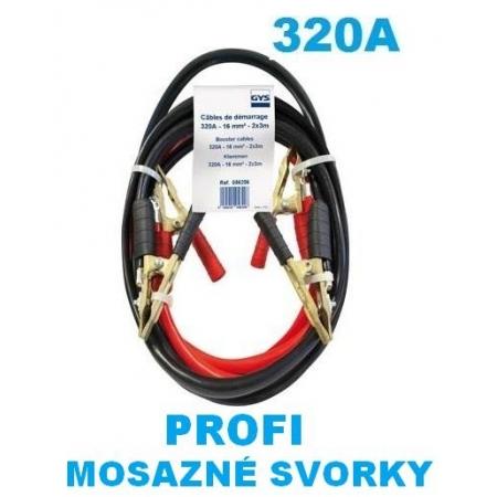Startovací kabely 320A, GYS PROFI , 16mm, 3m (GYS056206)