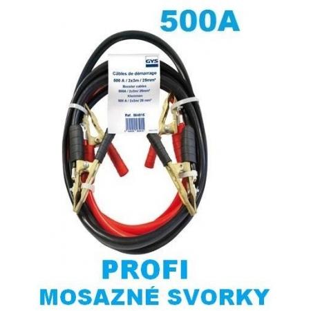 Startovací kabely 500A, GYS PROFI, 25mm, 3m  (GYS564015)