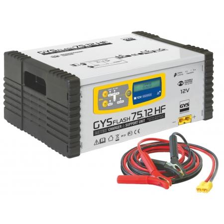 Nabíječka autobaterií a stabilzovaný zdroj GYS GYSFLASH 75.12 HF (12V) (029262)