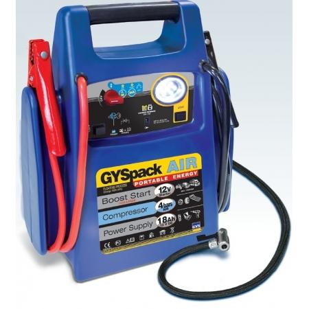 Startovací zdroj GYSpack AIR, kompresor, zdroj 12V, LED světlo, 1250A