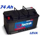 Autobaterie PK Technik Comfort Line 12V 74Ah  EN 660A LEVÁ