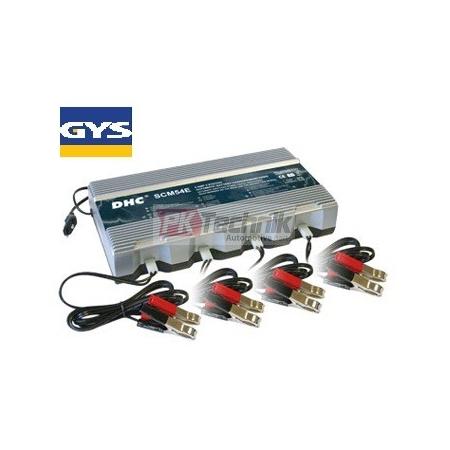 Nabíjecí stanice pro 4 akumulátory 12V, GYS DHC 54E (do 100Ah)