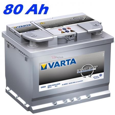 Autobaterie VARTA START-STOP 80Ah, 12V, F22 (580500073)