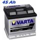 Autobaterie VARTA BLACK DYNAMIC 45Ah, 12V, B19 (545412040)