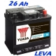 Autobaterie YUASA Professional 26Ah, 200A LEVÁ