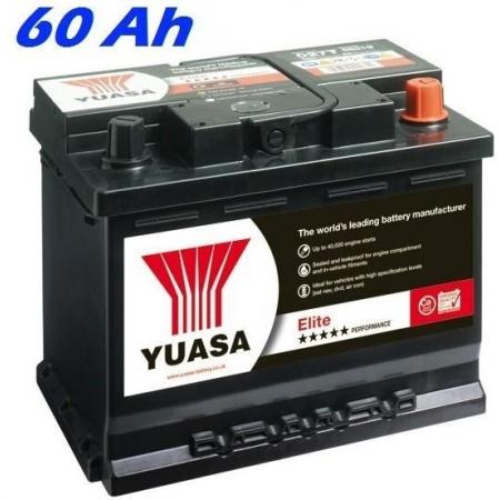 Autobaterie YUASA 075T ELITE 60 Ah, 590A