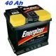 Autobaterie ENERGIZER PLUS (EP40-LO) 40 Ah, 340 A