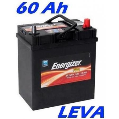 Autobaterie ENERGIZER PLUS (EP60J) 60 Ah, 510 A, LEVÁ (japonské póly)